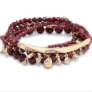 Kendra Scott Supak Bracelet Set in Garnet